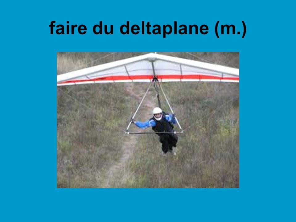 faire du parachutisme (m.) un parachute