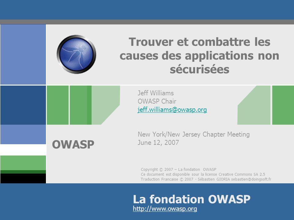 OWASP Avertissement .