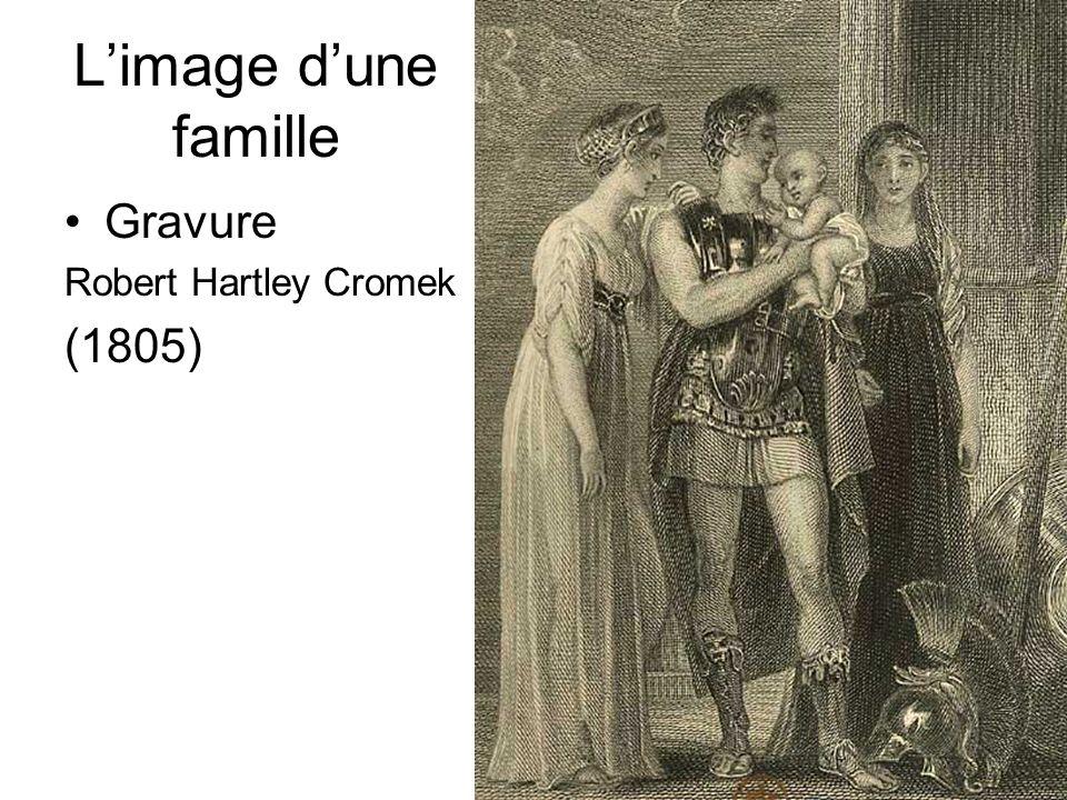 D.Augé Limage dune famille Gravure Robert Hartley Cromek (1805)
