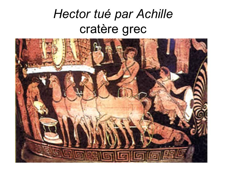 D.Augé Hector tué par Achille cratère grec