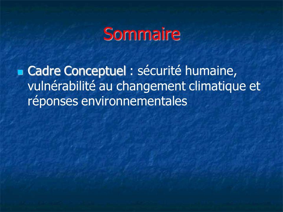 Cadre conceptuel de la sécurité humaine SECTION II