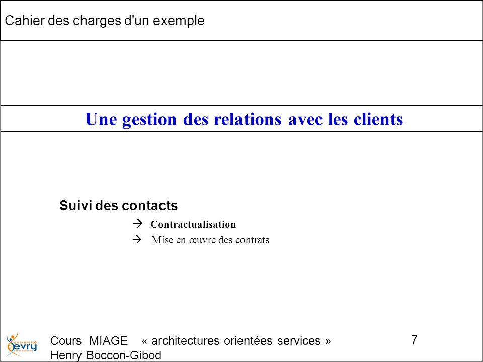Cours MIAGE « architectures orientées services » Henry Boccon-Gibod 48 Fin du module