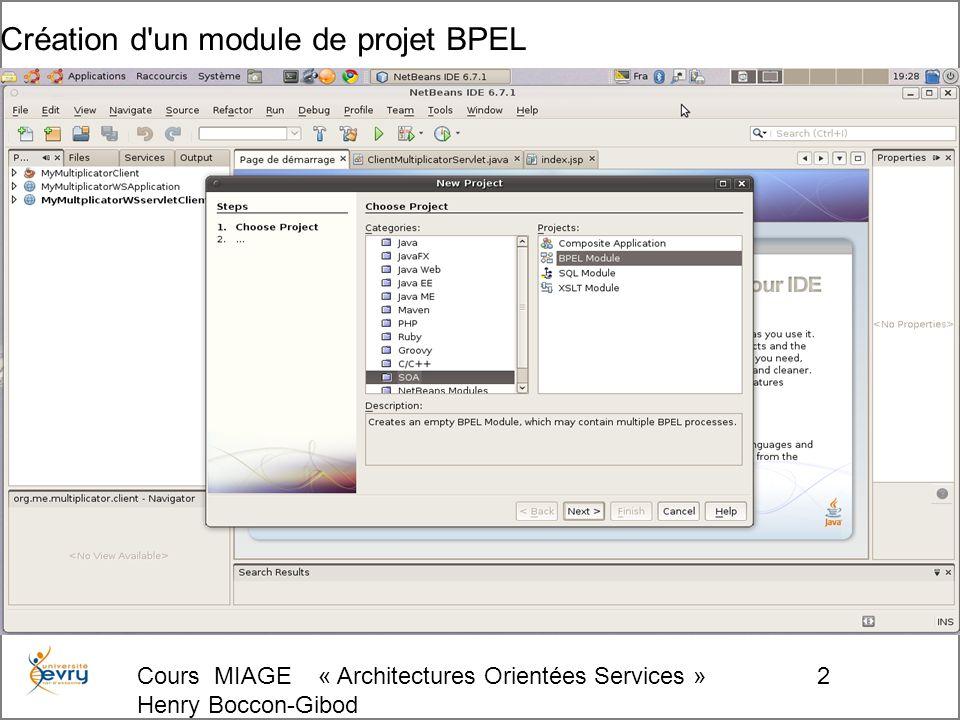 Cours MIAGE « Architectures Orientées Services » Henry Boccon-Gibod 133