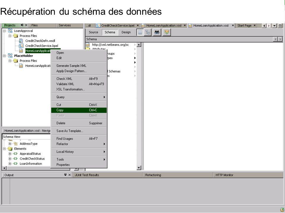 Cours MIAGE « Architectures Orientées Services » Henry Boccon-Gibod 50 Récupération du schéma des données