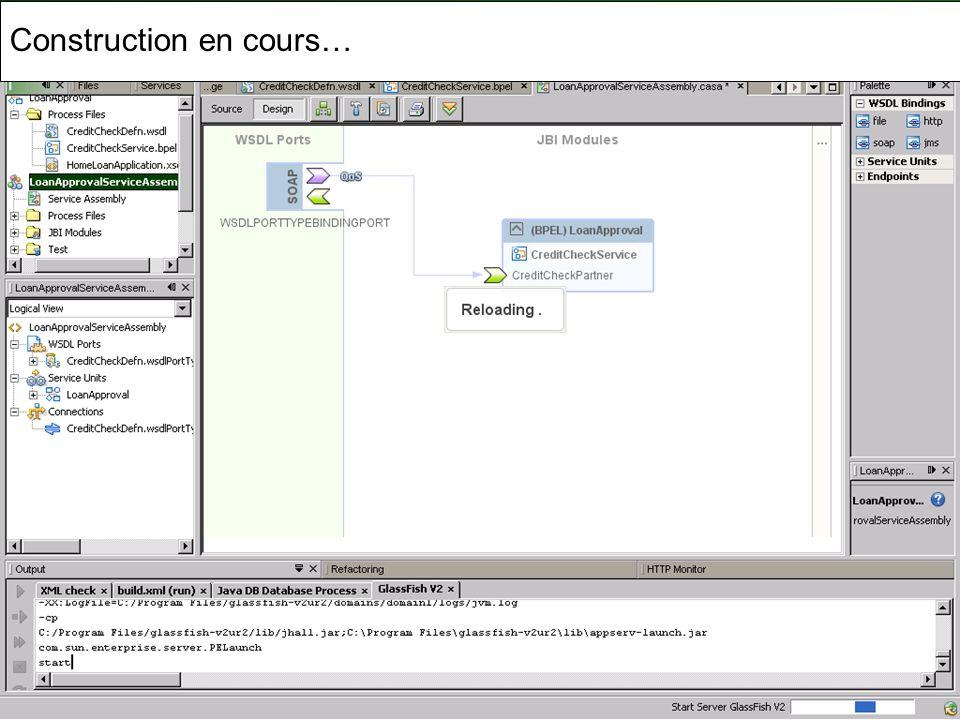 Cours MIAGE « Architectures Orientées Services » Henry Boccon-Gibod 65 Construction en cours…