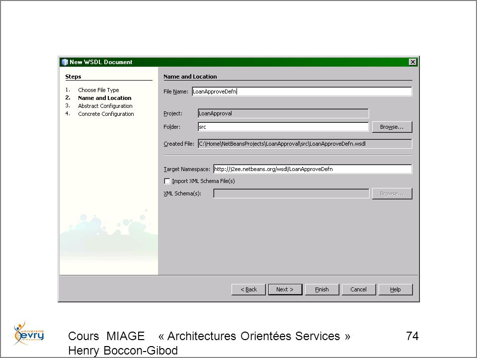 Cours MIAGE « Architectures Orientées Services » Henry Boccon-Gibod 74