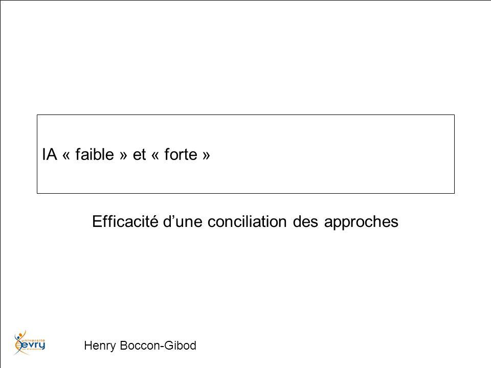 Henry Boccon-Gibod « raisonné » « réparti » Système multi-agents Système logique « action » « déduction » Local, Dynamique, Efficace Centralisé Statique Prototype
