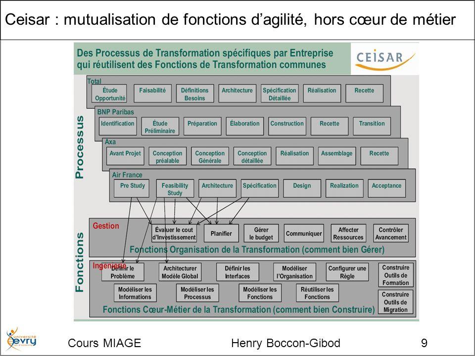 Cours MIAGE Henry Boccon-Gibod9 Ceisar : mutualisation de fonctions dagilité, hors cœur de métier