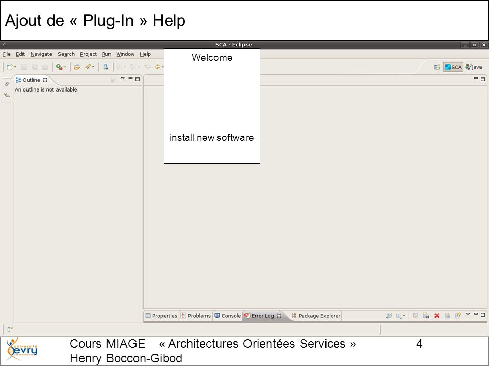Cours MIAGE « Architectures Orientées Services » Henry Boccon-Gibod 35 Création du code du 1er interface
