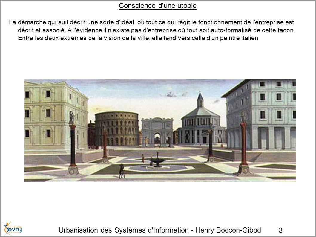 Urbanisation des Systèmes d'Information - Henry Boccon-Gibod 3 Conscience d'une utopie La démarche qui suit décrit une sorte d'idéal, où tout ce qui r