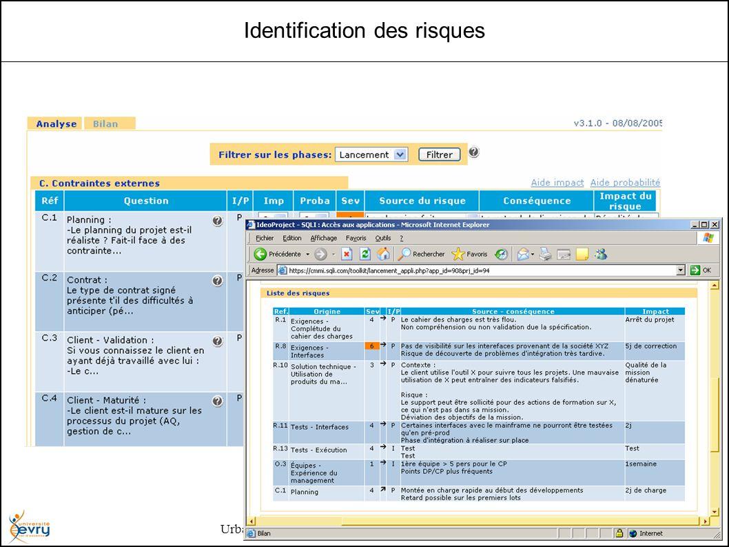 Urbanisation des Systèmes d Information - Henry Boccon-Gibod 18 Identification des risques