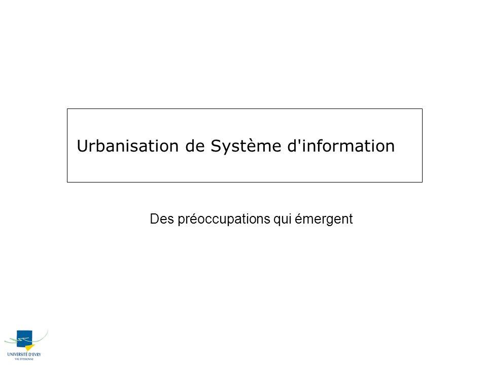Urbanisation de Système d information Des préoccupations qui émergent