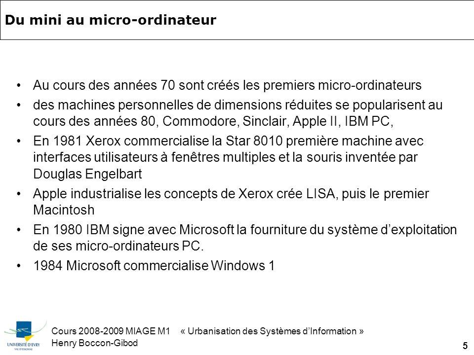 Cours 2008-2009 MIAGE M1 « Urbanisation des Systèmes dInformation » Henry Boccon-Gibod 56 Exemples de Chaînes de valeur trouvés sur le Net