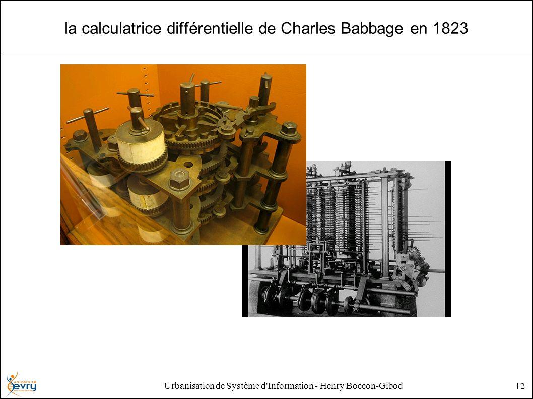 Urbanisation de Système d'Information - Henry Boccon-Gibod 12 la calculatrice différentielle de Charles Babbage en 1823