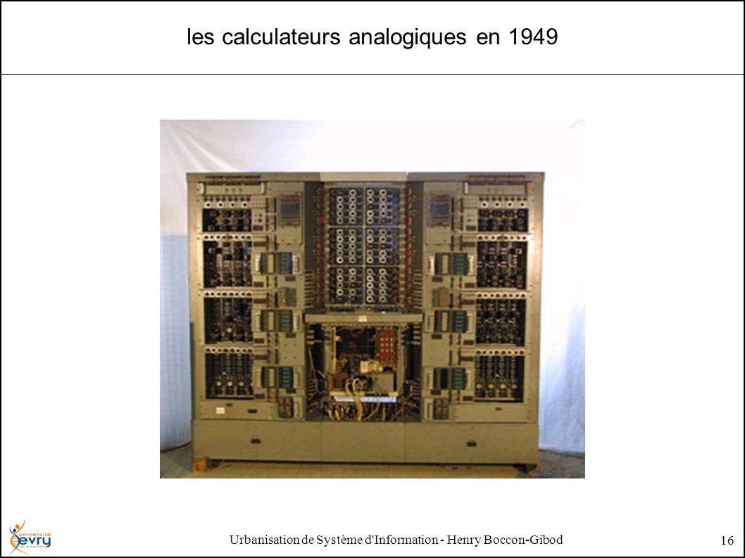 Urbanisation de Système d'Information - Henry Boccon-Gibod 16 les calculateurs analogiques en 1949