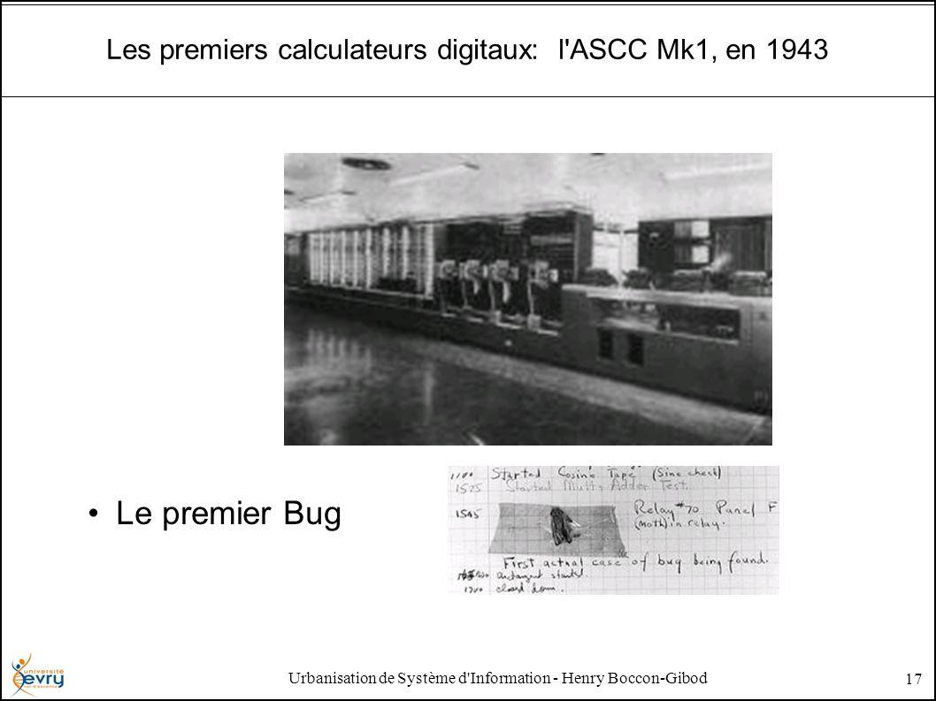 Urbanisation de Système d'Information - Henry Boccon-Gibod 17 Les premiers calculateurs digitaux: l'ASCC Mk1, en 1943 Le premier Bug