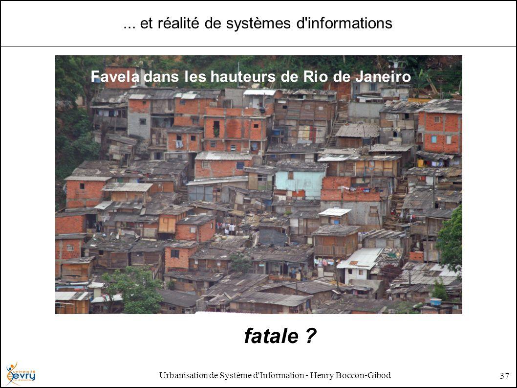 Urbanisation de Système d'Information - Henry Boccon-Gibod 37... et réalité de systèmes d'informations Favela dans les hauteurs de Rio de Janeiro fata