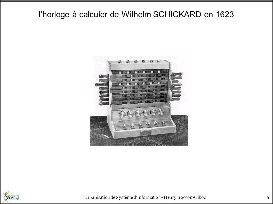 Urbanisation de Système d'Information - Henry Boccon-Gibod 6 lhorloge à calculer de Wilhelm SCHICKARD en 1623