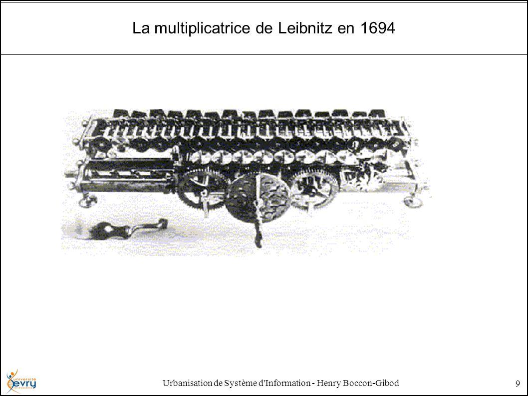 Urbanisation de Système d Information - Henry Boccon-Gibod 9 La multiplicatrice de Leibnitz en 1694