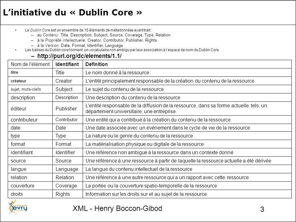 XML - Henry Boccon-Gibod 54 Fin du module