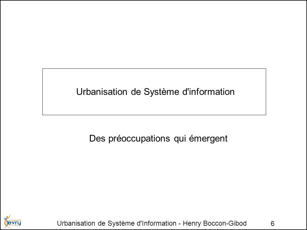 Urbanisation de Système d Information - Henry Boccon-Gibod 27 Fin du module