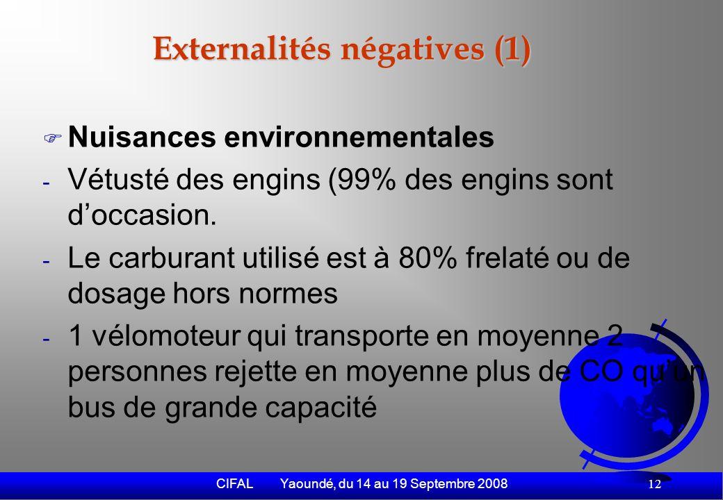 CIFAL Yaoundé, du 14 au 19 Septembre 2008 13
