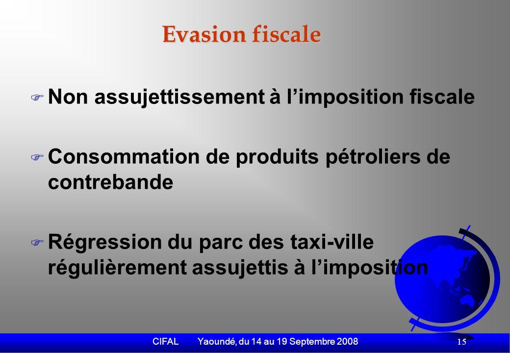 CIFAL Yaoundé, du 14 au 19 Septembre 2008 16 Vers un transport urbain durable (1) Amélioration du parc des véhicules et engins - Réglementation plus stricte - Taxation de limportation des véhicules doccasion - Remplacement progressif des engins à moteur 2 temps par 4 temps Réorganisation du secteur - Mise en œuvre efficiente du plan de circulation où les taxi motos font le rabattement vers les arrêts principaux des TC - Mesures sociales de reconversion des taxi-motos - Amélioration du réseau routier et des pistes cyclabes