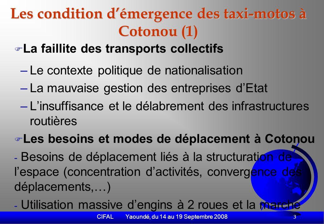 CIFAL Yaoundé, du 14 au 19 Septembre 2008 4