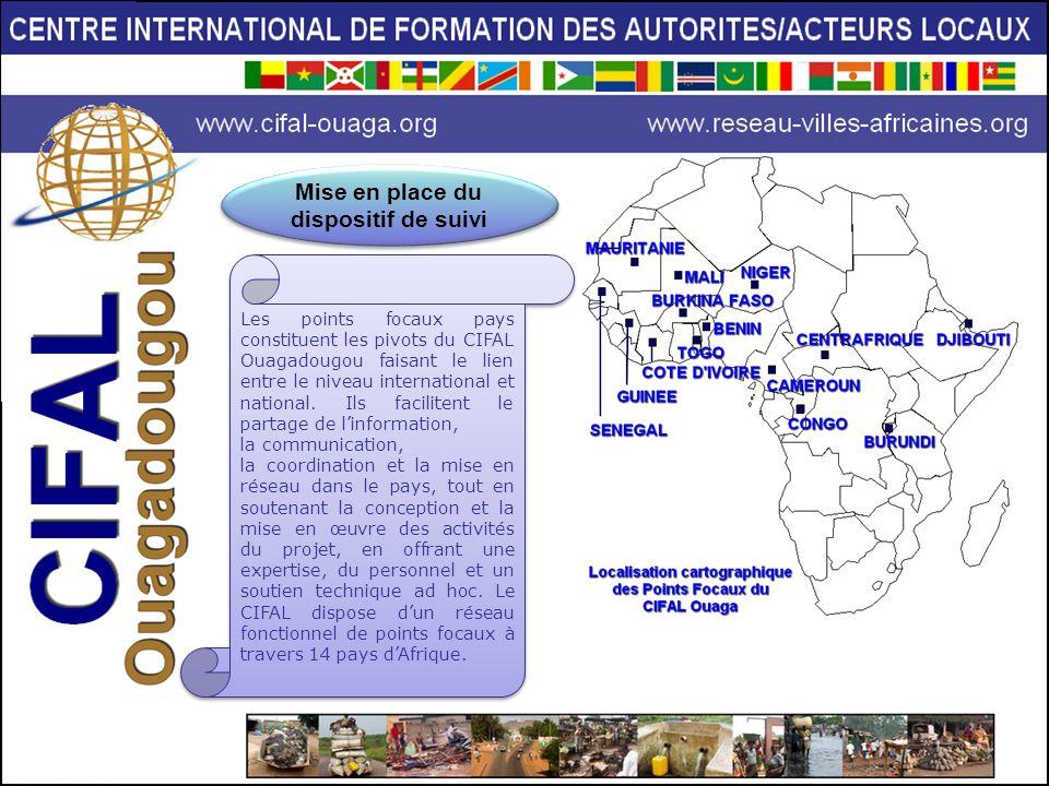 Les points focaux pays constituent les pivots du CIFAL Ouagadougou faisant le lien entre le niveau international et national. Ils facilitent le partag