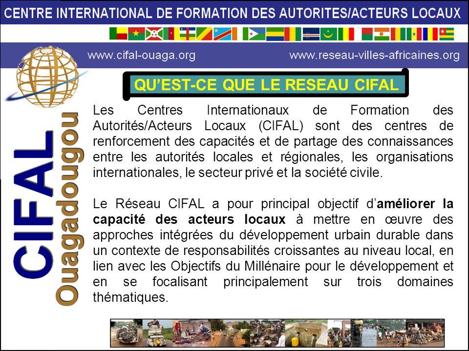 Les Centres Internationaux de Formation des Autorités/Acteurs Locaux (CIFAL) sont des centres de renforcement des capacités et de partage des connaiss