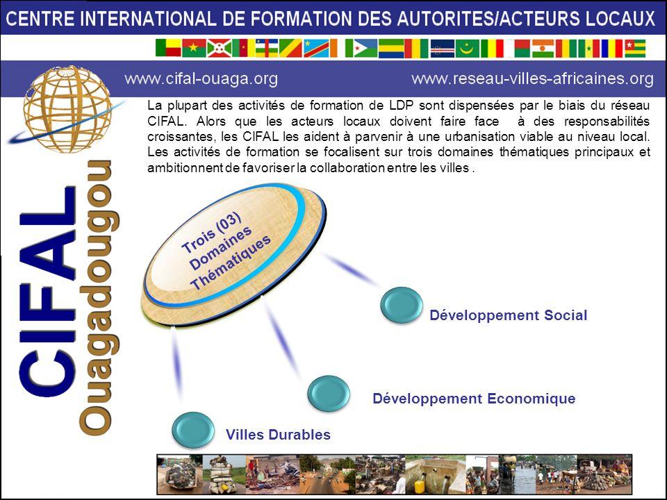 La plupart des activités de formation de LDP sont dispensées par le biais du réseau CIFAL. Alors que les acteurs locaux doivent faire face à des respo
