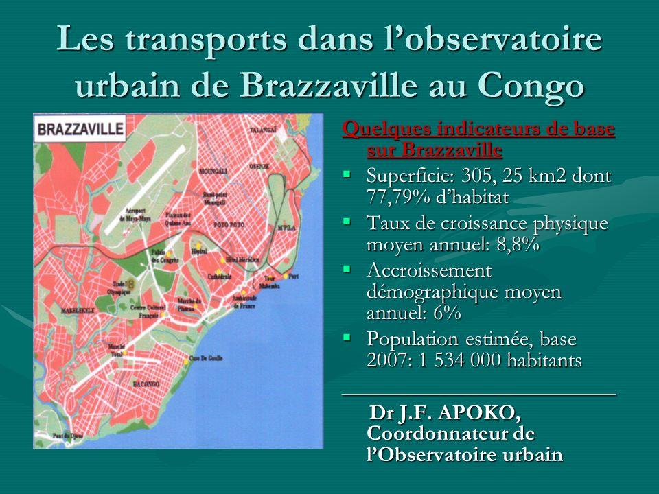 1-Aperçu général de lObservatoire urbain de Brazzaville OUB= expression de la recommandation du sommet des villes dIstanbul (1996)OUB= expression de la recommandation du sommet des villes dIstanbul (1996) Justification de la recommandation: peu de villes dans le monde, et celles des PVD en particulier, développent des politiques et des projets urbains en sappuyant sur la connaissance du niveau des problèmes à résoudre, et en évaluant lefficacité desdites politiques et desdits projetsJustification de la recommandation: peu de villes dans le monde, et celles des PVD en particulier, développent des politiques et des projets urbains en sappuyant sur la connaissance du niveau des problèmes à résoudre, et en évaluant lefficacité desdites politiques et desdits projets Par conséquent, il y a exigence de recourir aux indicateurs de diagnostic et indicateurs de performancePar conséquent, il y a exigence de recourir aux indicateurs de diagnostic et indicateurs de performance