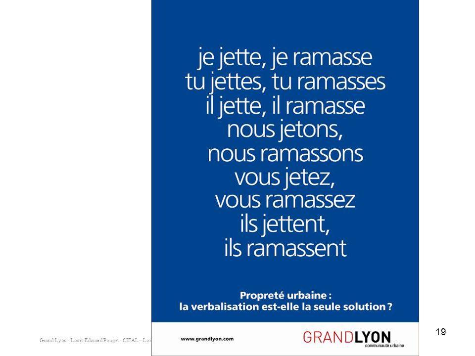 Grand Lyon - Louis-Edouard Pouget - CIFAL – Lomé - Mai 2008 19