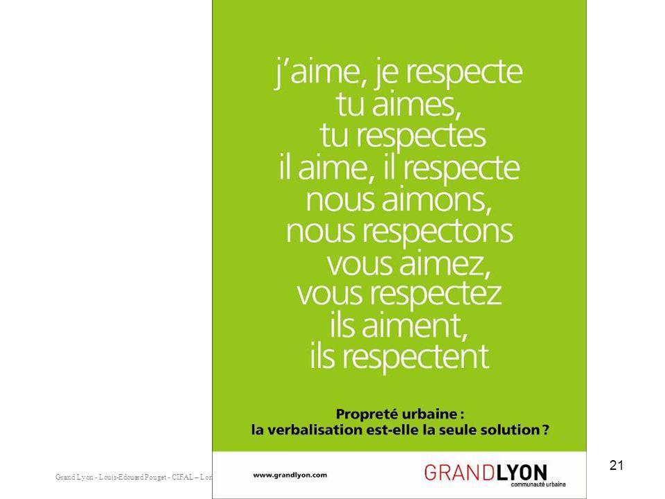 Grand Lyon - Louis-Edouard Pouget - CIFAL – Lomé - Mai 2008 21