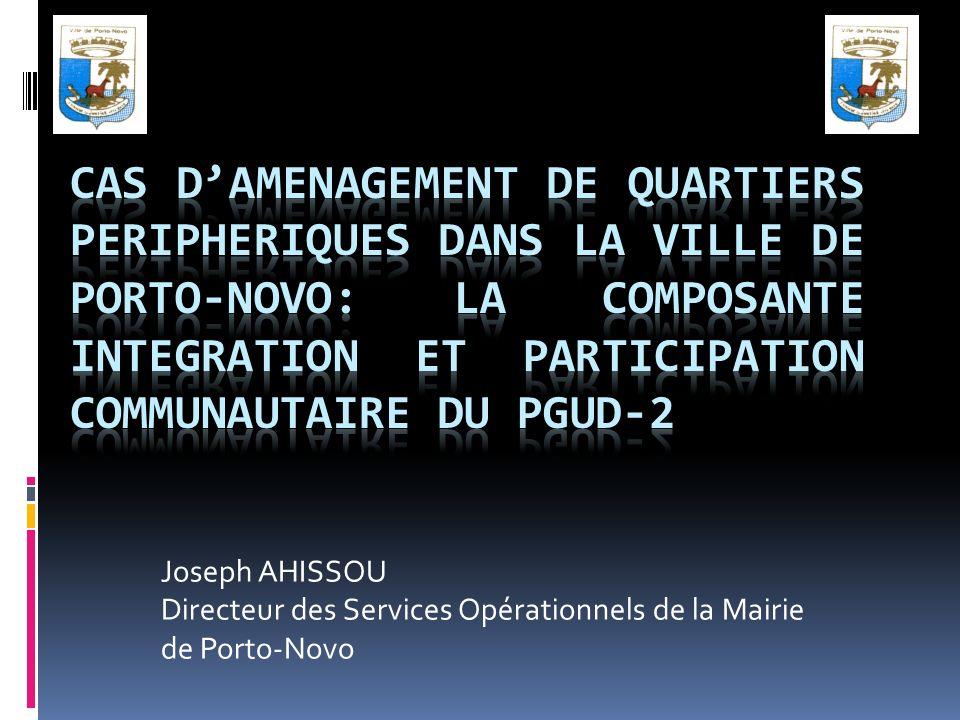 Joseph AHISSOU Directeur des Services Opérationnels de la Mairie de Porto-Novo
