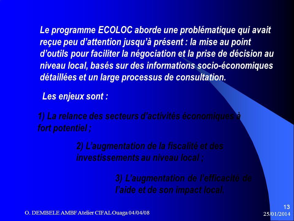Le programme ECOLOC aborde une problématique qui avait reçue peu dattention jusquà présent : la mise au point doutils pour faciliter la négociation et