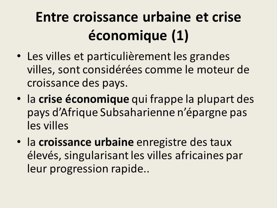 Entre croissance urbaine et crise économique (2) Les déplacements représentent une composante essentielle de la vie urbaine (accès à lemploi, aux besoins essentiels etc.), du fonctionnement de la ville, de sa productivité, mais aussi de la productivité nationale.