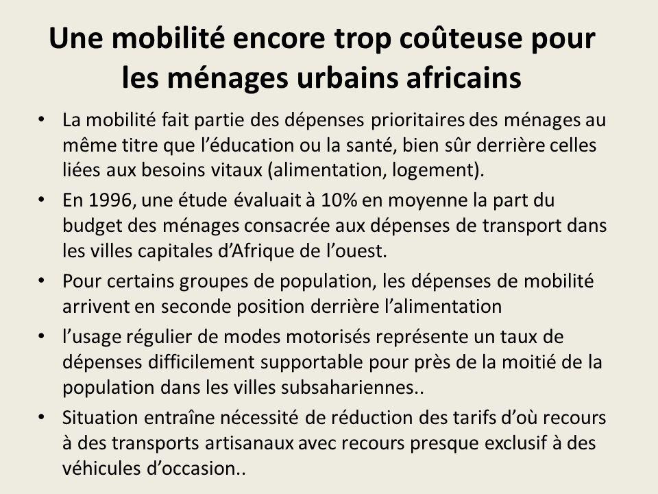 Les différents types de transports urbains Le transport urbain dans les villes dAfrique sub-saharienne est marqué par la prédominance du secteur artisanal qui a supplanté dans les années 90 les entreprises structurées pour couvrir les besoins de mobilité motorisée.