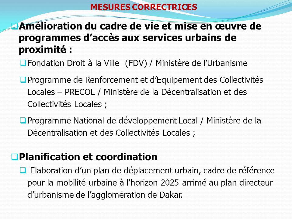 Amélioration du cadre de vie et mise en œuvre de programmes daccès aux services urbains de proximité : Fondation Droit à la Ville (FDV) / Ministère de