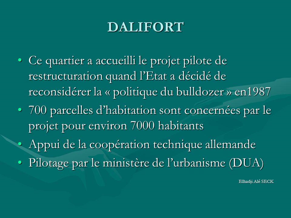 DALIFORT Ce quartier a accueilli le projet pilote de restructuration quand lEtat a décidé de reconsidérer la « politique du bulldozer » en1987Ce quart