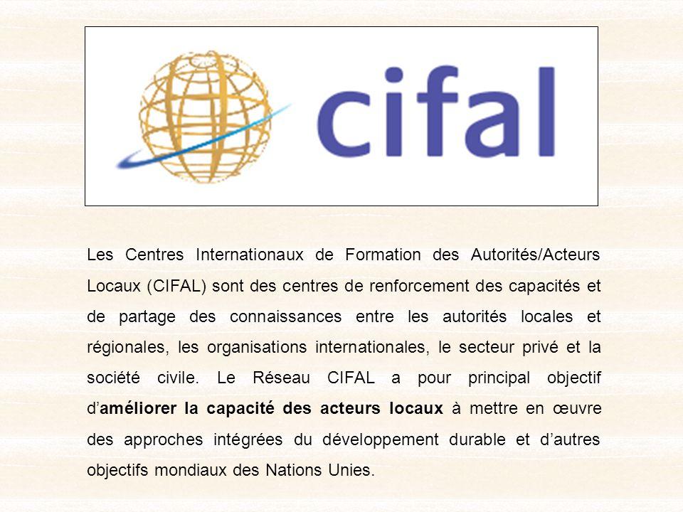 Fondation pour le Renforcement des Capacités en Afrique ACBF Comité de Pilotage Commune de Ouagadougou Centre International de Formation des Acteurs Locaux (CIFAL) Ouagadougou UNITAR Formateurs / FacilitateursRéseau dexperts Membres Associés Bénéficiaires (Élus et non élus, gestionnaires des entités décentralisées francophone dAfrique) ORGANISATION DE LINTERVENTION DU CIFAL OUAGADOUGOU