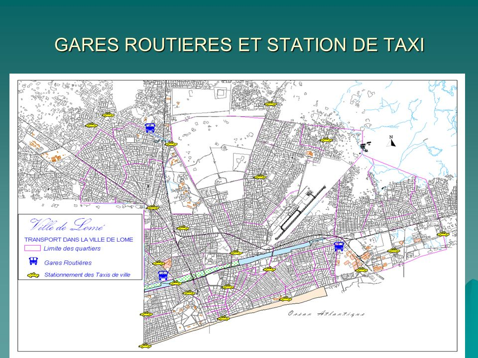 GARES ROUTIERES ET STATION DE TAXI