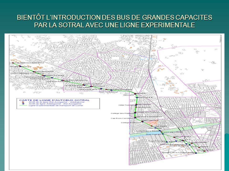 BIENTÔT LINTRODUCTION DES BUS DE GRANDES CAPACITES PAR LA SOTRAL AVEC UNE LIGNE EXPERIMENTALE