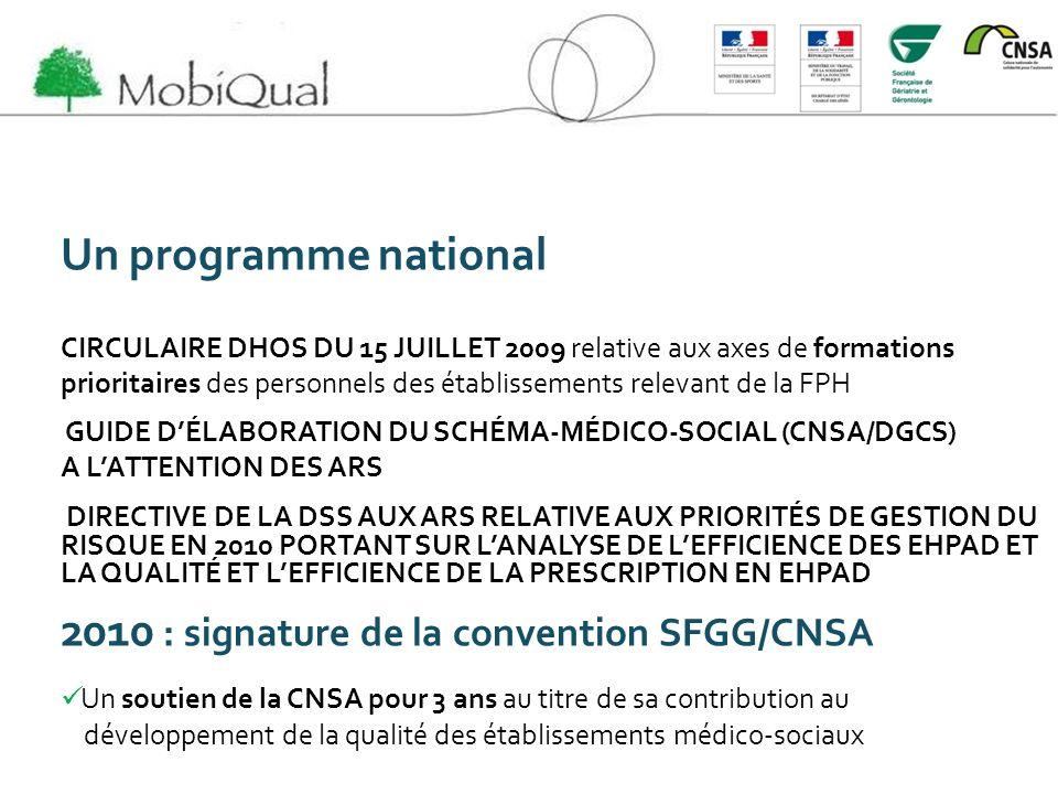 Un programme national CIRCULAIRE DHOS DU 15 JUILLET 2009 relative aux axes de formations prioritaires des personnels des établissements relevant de la