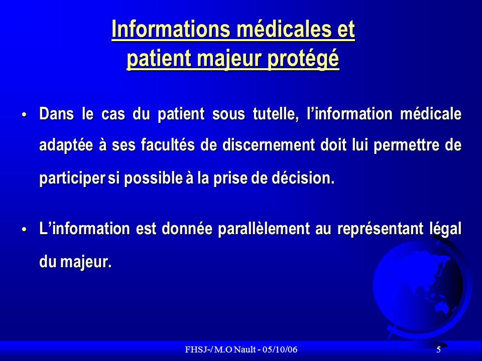 FHSJ-/ M.O Nault - 05/10/06 16 Le patient au centre de la demande (3) Si le patient est décédé, les ayants droit peuvent avoir accès à certaines parties du dossier, en prouvant leur qualité dayant droit.