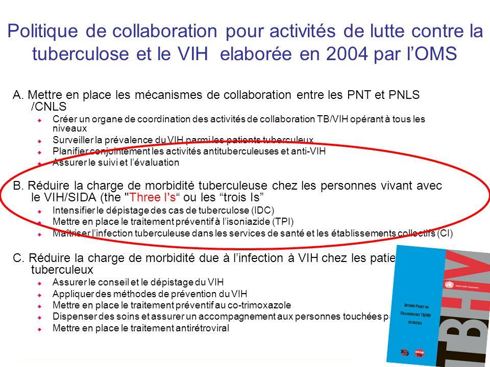 A. Mettre en place les mécanismes de collaboration entre les PNT et PNLS /CNLS Créer un organe de coordination des activités de collaboration TB/VIH o