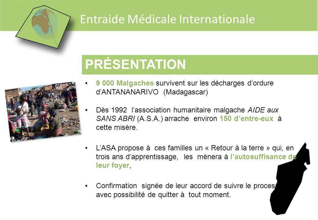 Entraide Médicale Internationale PRÉSENTATION 9 000 Malgaches survivent sur les décharges dordure dANTANANARIVO (Madagascar) Dès 1992 lassociation hum