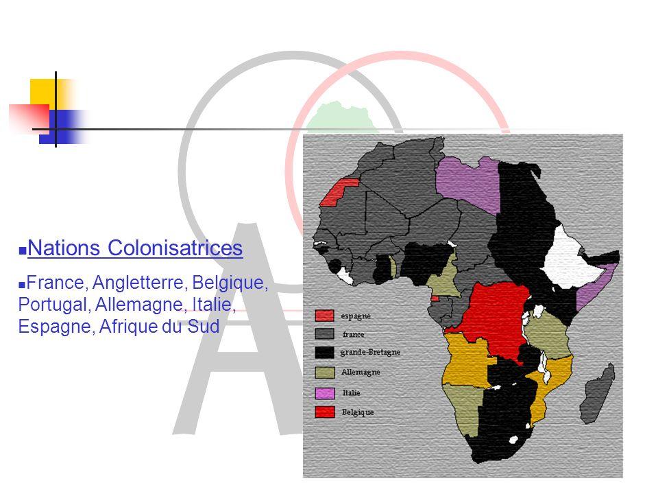 Etapes de loccupation du continent africain Occupation des côtes africaines Exploration de lhinterland africain ( dès 1820) Conférence de Berlin ( 1884 – 1885) : le partage Après la première Guerre Mondiale