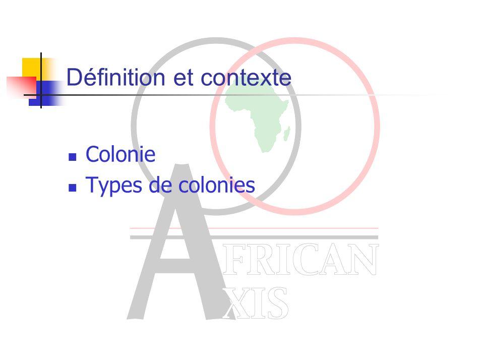LA COLONISATION DE L AFRIQUE