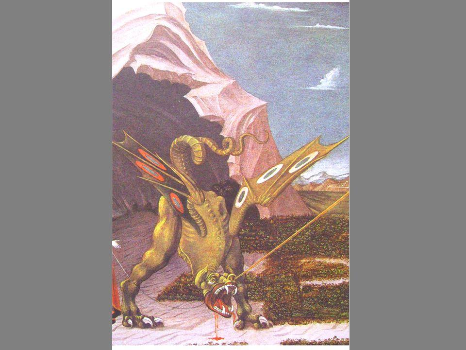 Roca Fuster La victoire Au dessus de la dépouille du dragon sélève lAme Spirituelle libérée (la princesse).